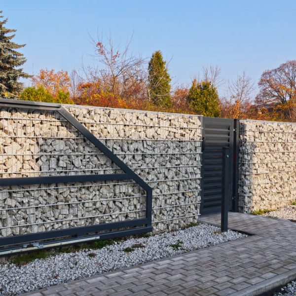 Gabionový plot antracit na kľúč Bratislava iPloty