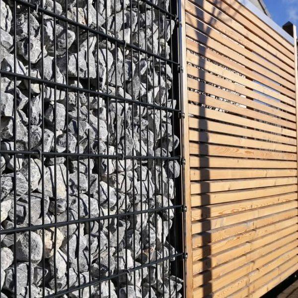 Gabionový plot s drevom na kľúč Bratislava iPloty